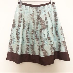 Anthropologie Odille Silk A-Line Skirt Size 2